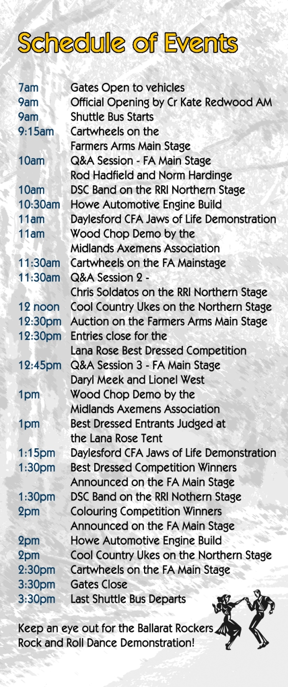 DMF Schedule of Events